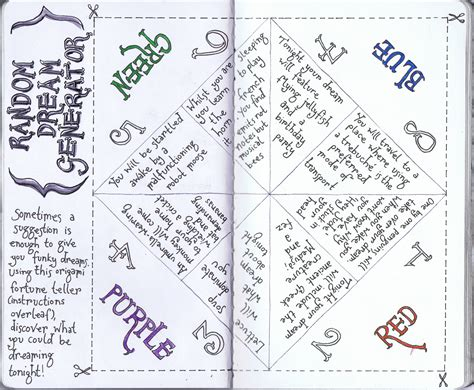 Fortune Teller Origami Sayings - 6 best images of printable origami fortune teller blank