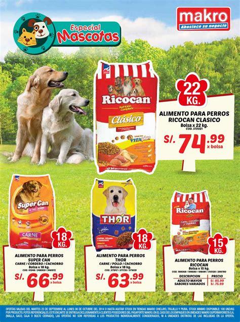 alimentos para perros precios encarte makro especial mascotas norte 20 by makro peru
