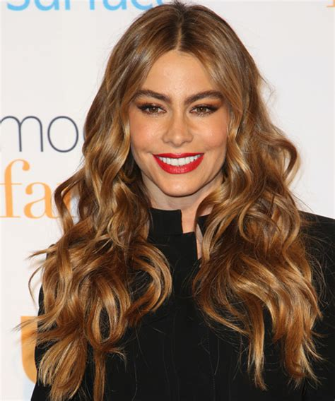 Sofia Vergara Long Wavy Casual Hairstyle   Medium Brunette