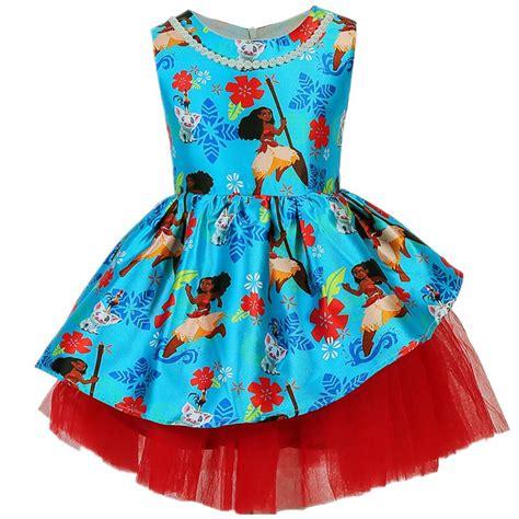pattern party dress disney moana party dress with lace pattern