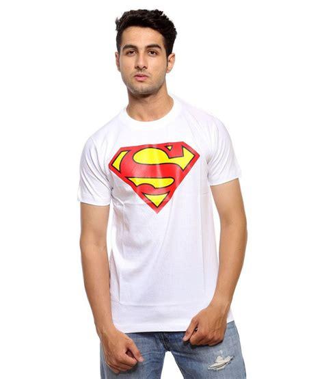 Tshirt Supermen White trendmakerz white superman logo tshirt buy trendmakerz