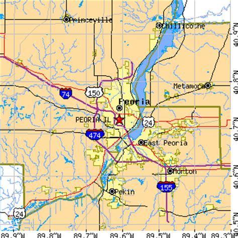 zip code map peoria il peoria illinois il population data races housing