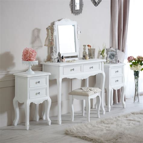 white bedroom dressing table white wooden bedroom set dressing table bedside cabinets