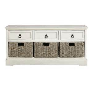Storage Bench With Drawers White 3 Drawer 3 Basket Storage Bench Tree Shops Andthat
