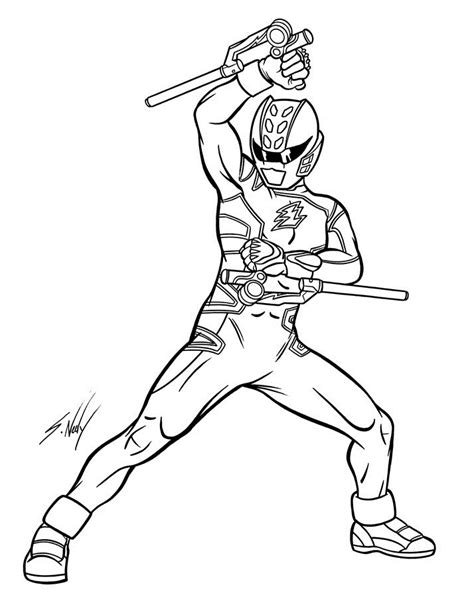 power rangers ninja storm coloring pages images