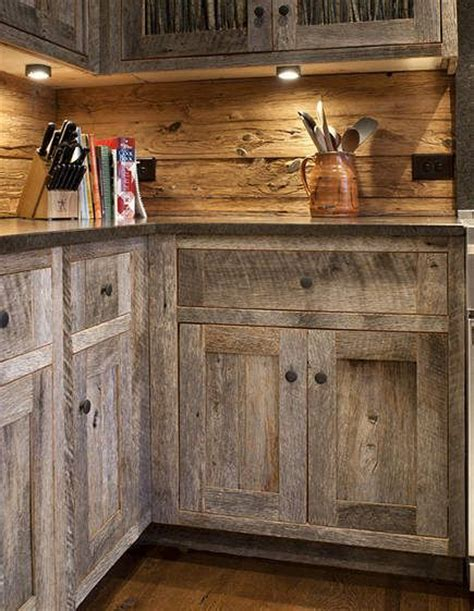 How To Make Rustic Kitchen Cabinets Best 25 Barn Wood Cabinets Ideas On Rustic Cabinets Rustic Kitchen Cabinets And