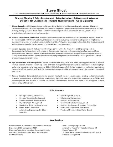 Steve Resume by Steve Ghost Resume 2015