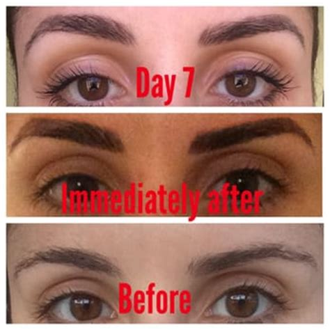 tattoo eyebrows after a week cc permanent makeup eyebrows before and after los
