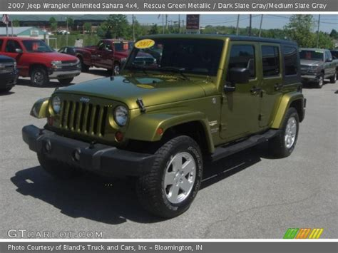 2007 Jeep Wrangler Green Rescue Green Metallic 2007 Jeep Wrangler Unlimited