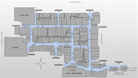 yorkdale floor plan yorkdale mall directory stores hours map and location