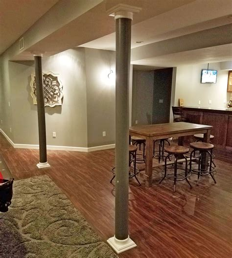 lally column covers in basement remodel architectural depot
