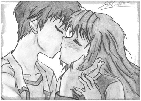 imagenes para dibujar a lapiz sombreado dibujos de animes enamorados a lapiz para regalar