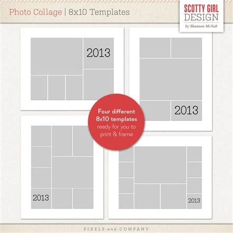 photo collage 8x10 templates by scotty girl design photo
