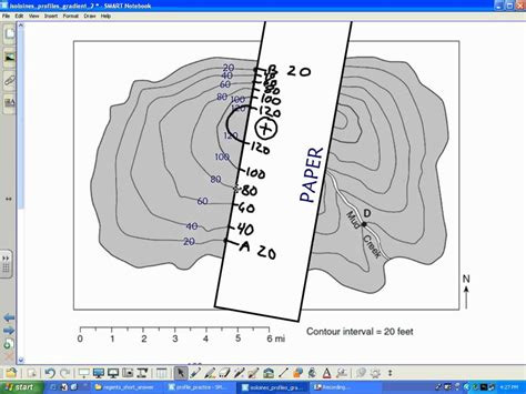 drawing a cross section geography video tutorial topographic profiles aka cross sections wmv