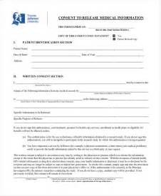 Release Of Information Consent Form Template by Sle Consent Form 11 Free Documents In Doc Pdf