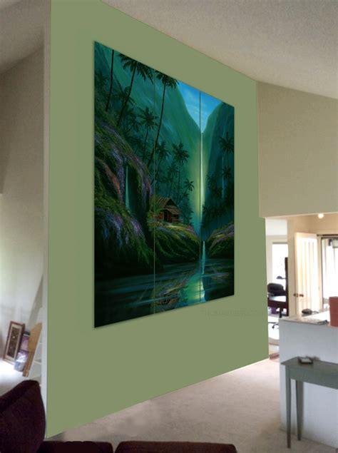 painting livingroom triptych paintings deir honolulu hi artist