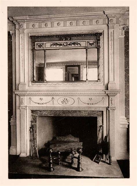 colonial fireplace mantel 1901 collotype mantel mirror home improvement decor