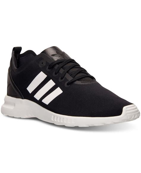 adidas black sneakers womens adidas s zx flux smooth running sneakers from finish