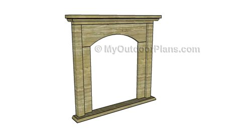 fireplace mantel plans free outdoor plans diy shed