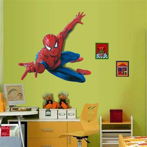 Batman Wall Murals large spiderman wall stickers peel and stick for children