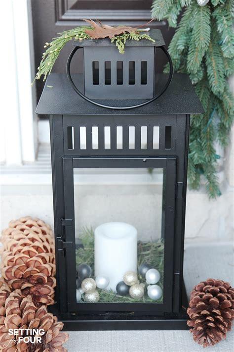how to decorate christmas lanterns 10 minute lantern decor setting for four