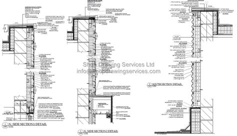metal cladding wall section corrugated sheet wall cladding shop drawings detail