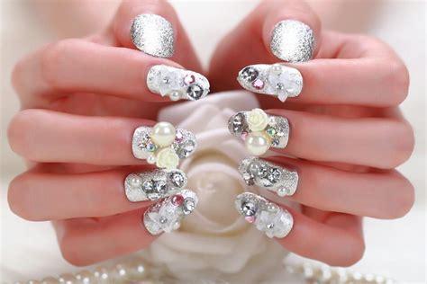 fotos de uñas acrilicas llamativas ua 177 as acrilicas con piedras de cristal