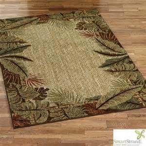 sarasota tropical leaf border area rugs home