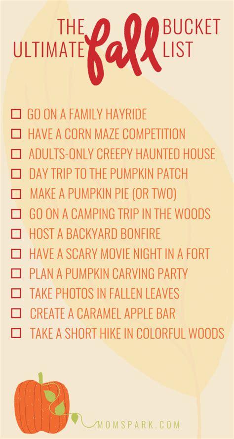 printable list of things to do in las vegas 12 fun things to do in the fall printable fall bucket