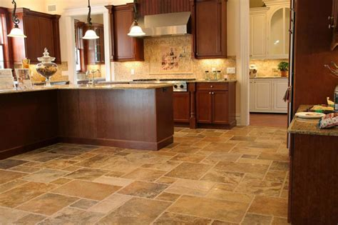 tile floor kitchen scabos pattern travertine fuda tile