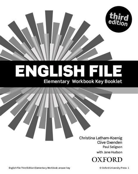 (PDF) English File Third Edition Elementary Workbook