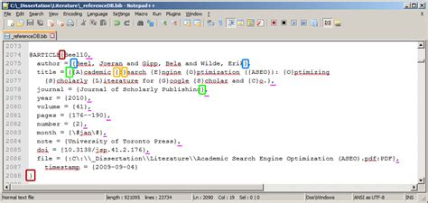 latex refman tutorial bibtex masters thesis