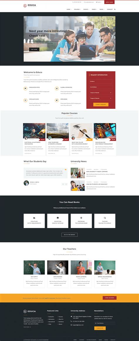 Bootstrap Templates For Institute | education bootstrap templates free premium themes