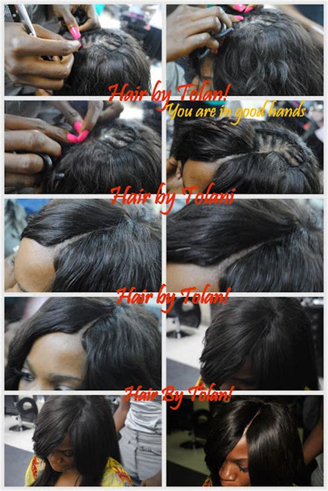 how to glue weave to a cap with hair style off the face no bangs sew in full cap wig weave with invisible natural part no