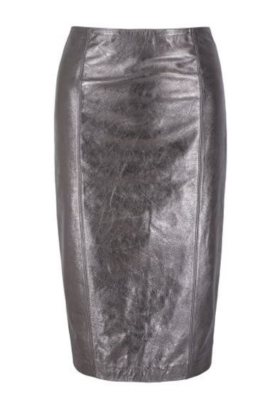 simrek silver leather skirt leather4sure leather pencil