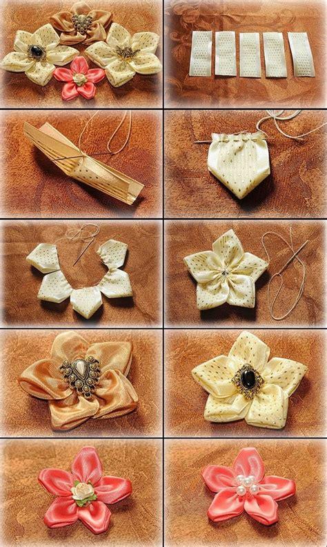 Handmade Ribbon Flowers Tutorial - diy tutorial ribbon flowers diy ribbon flower tutorial