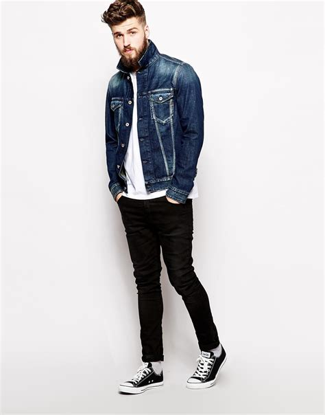 Sepatu Semi Boot Paul Marc Original replay classic and casual denim jacket in blue for