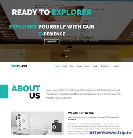 50 Best Multipurpose Website Templates 2018 Frip In Class Website Template