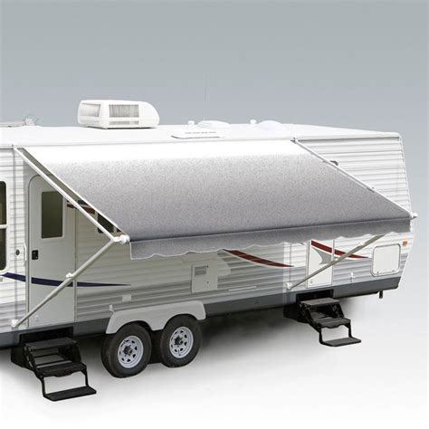 roll out awnings carefree 21ft silver shale fade roll out awning no arms
