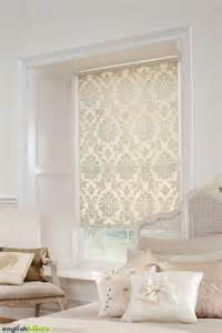 retro kitsch cream roller blind shabby chic bedrooms