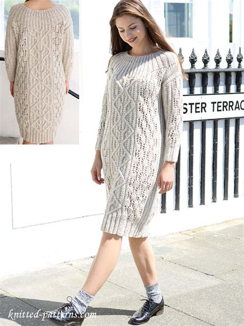 knitted dress patterns cable dress knitting pattern free