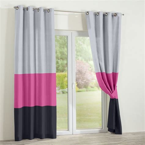 Gray And Pink Curtains Multifabric Duo And Trio Curtains Made In 7 Days