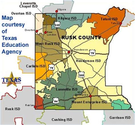 rusk texas map rusk county texas school districts