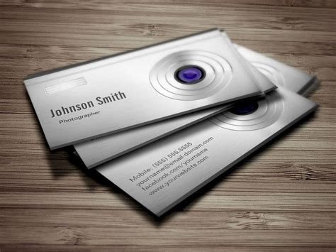 lens card featured digital lens photography business cards