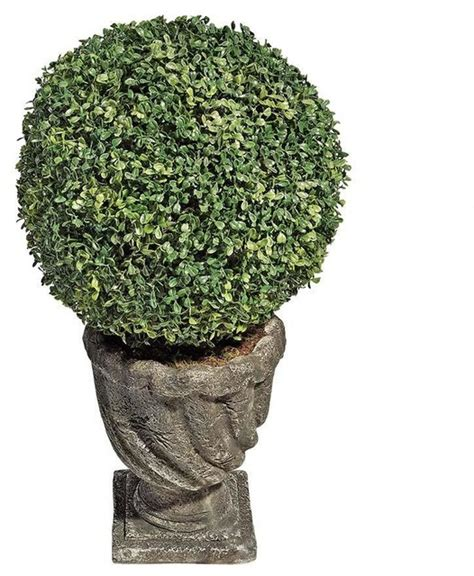 large artificial topiary trees 27 quot h boxwood topiaries large traditional