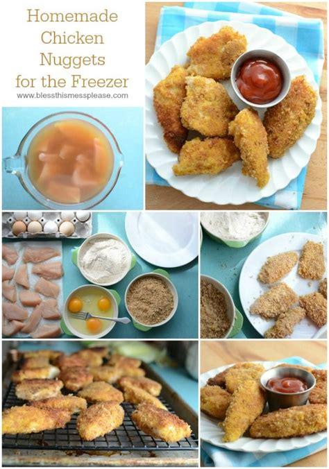 Freezer Nugget healthy frozen chicken nuggets recipe
