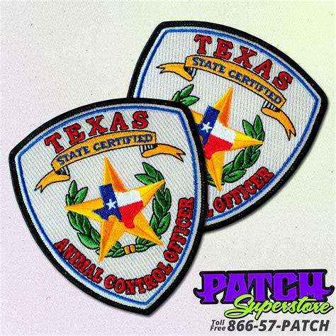 custom patches embroidered patches patchsuperstore custom animal control officer patch patchsuperstore