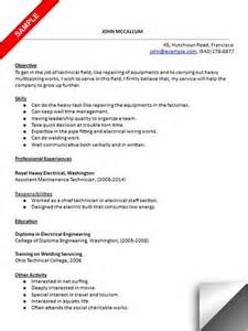 Maintenance Technician Resume by Maintenance Technician Resume Sle Resume Exles