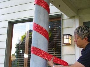 christmas column wraps how to built a small front porch