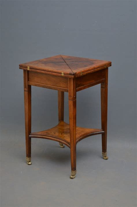 Small Card Table by Small Table Walnut Card Table Antiques